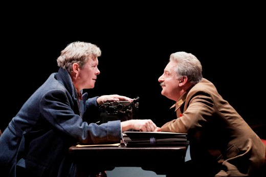 Alex Jennings (left) as Bulgakov and Simon Russell Beale as Stalin