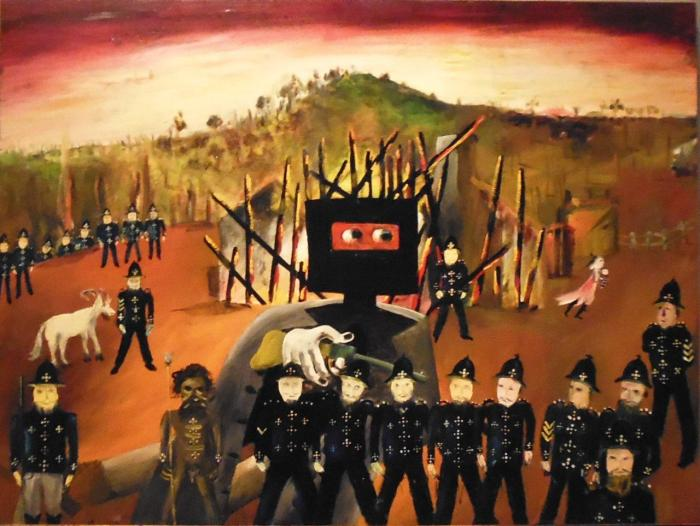 One of Sydney Nolan's Ned Kelly series