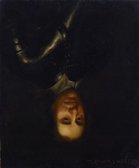 British School 17th Century Oliver Cromwell (hung upside down) © Inverness Museum and Art Gallery