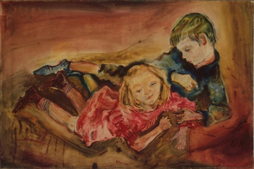 Oskar Kokoschka  Children Playing, 1909 Oil on canvas Lehmbruck Museum, Duisberg (573/1965) © courtesy of Lehmbruck Museum, Duisberg / photographer: Bernd Kirtz / Fondation  Oskar Kokoschka/ DACS 2013