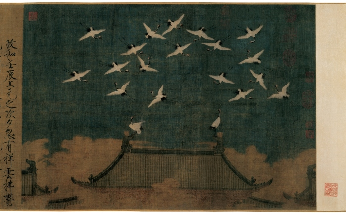 Auspicious Cranes Possibly Emperor Huizong c 1112 © The Liaoning Provincial Museum Collection
