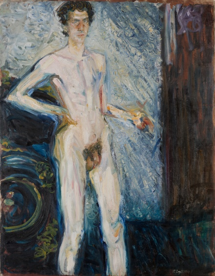Richard Gerstl  Nude Self-Portrait with Palette, 1908 Oil on canvas © Leopold Museum Private Foundation, Vienna