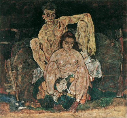 Egon Schiele  The Family (Self Portrait), 1918 Oil on canvas © Belvedere, Vienna