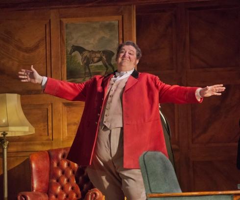 "Ambrogio Maestri in the title role of Verdi's ""Falstaff.""   Photo: Ken Howard/Metropolitan Opera"