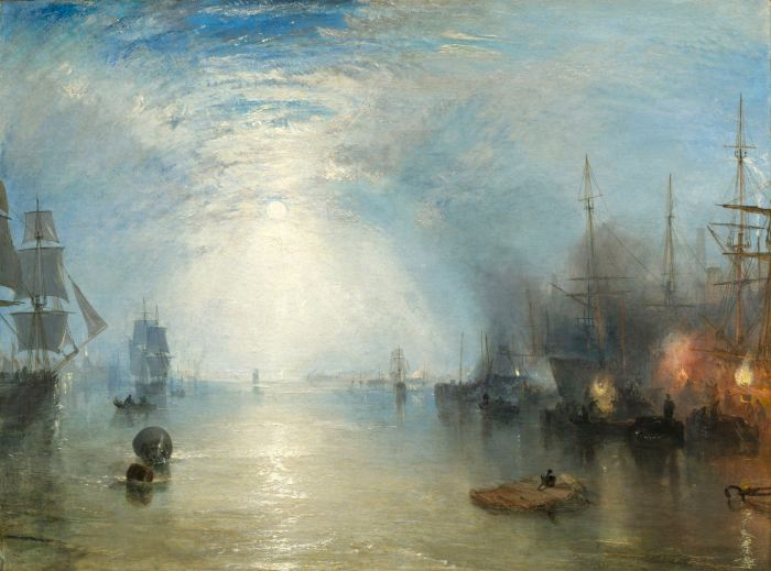 Keelmen heaving in Coal by Moonlight by J.M.W. Turner, 1835, oil on canvas © National Gallery of Art, Washington