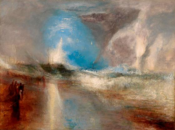 Rockets and Blue Lights (close at Hand) to warn Steam-Boats of Shoal-Water by J.M.W. Turner, 1840, oil on canvas © Sterling and Francine Clark Art Institute, Williamstown, Massachusetts, USA (photo by Michael Agee)
