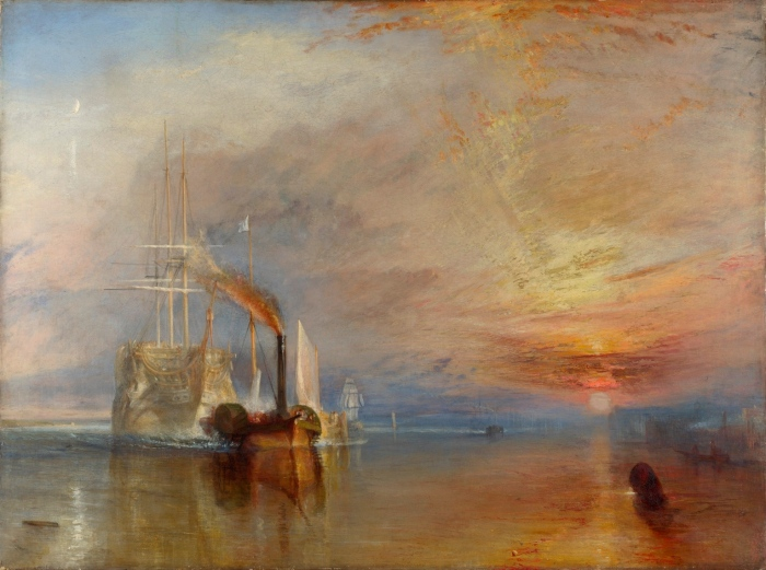 The Fighting Temeraire, tugged to her last Berth to be broken up, 1838 by J.M.W. Turner, 1839, oil on canvas © The National Gallery, London
