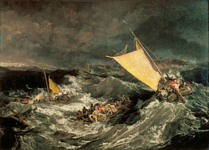 The Shipwreck by J.M.W. Turner, oil on canvas, exhibited at Turner's gallery in 1805 © Tate