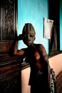 Leonce Raphael Agbodjélou Untitled (Demoiselles de Porto-Novo series) 2012