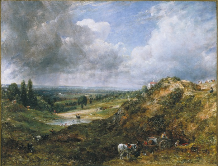 CON123, John Constable, Hampstead Heath, Branch Hill Pond, 1828, (c) Victoria and Albert Museum