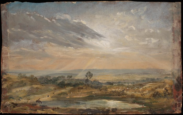 CON177.Branch Hill Pond, Hampstead, John Constable, c.1821 (c)Victoria and Albert Museum, London