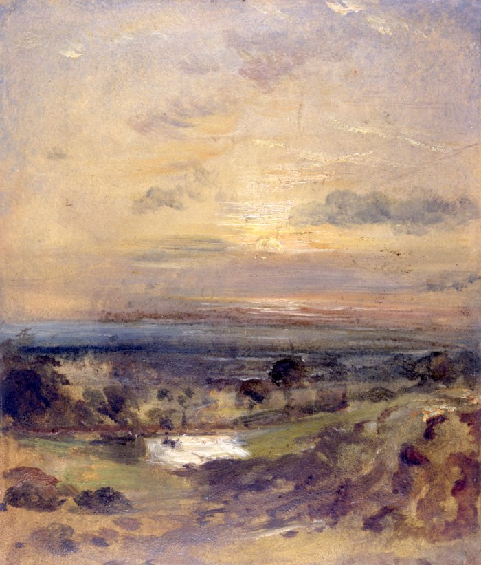 CON178.Branch Hill Pond Evening, John Constable, c.1821-2(c)Victoria and Albert Museum, London