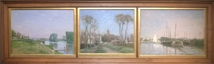 Sisley, Pissarro and Monet framed as one - National Gallery
