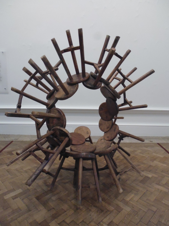 Ai WeiWei at RA furniture series installation