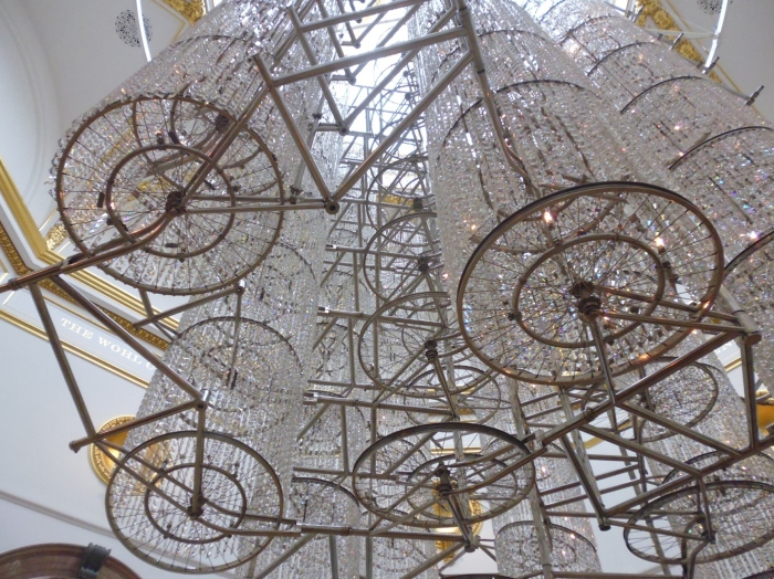 Ai WeiWei's Bicycle Chandelier at the Royal Academy