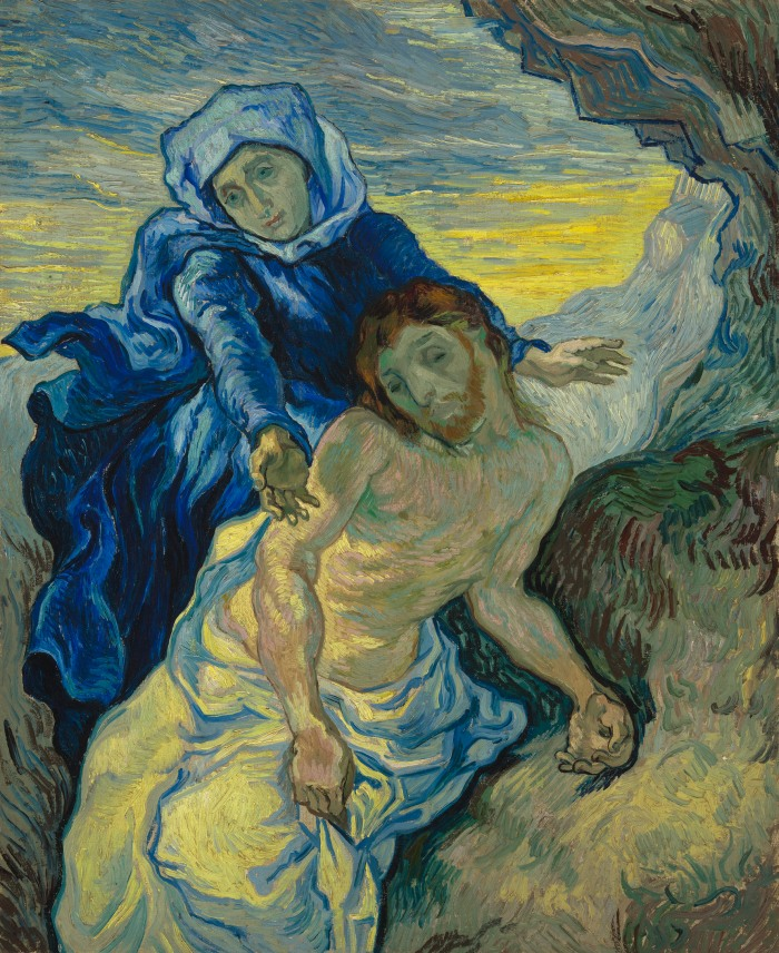 Pietà, after Delacroix, 1889