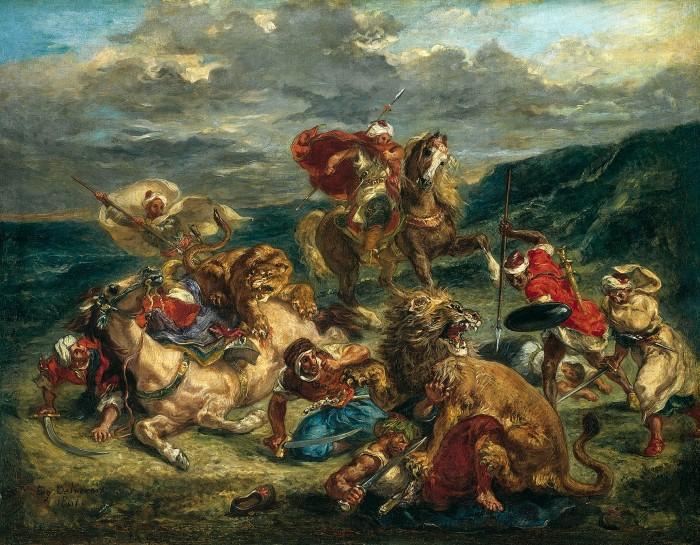 Lion Hunt, 1861