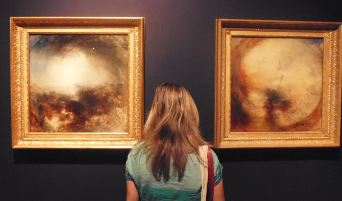 Installation shot - Turner's square paintings