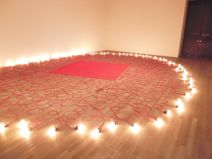 Mona Hatoum's Undercurrent (red) 2008