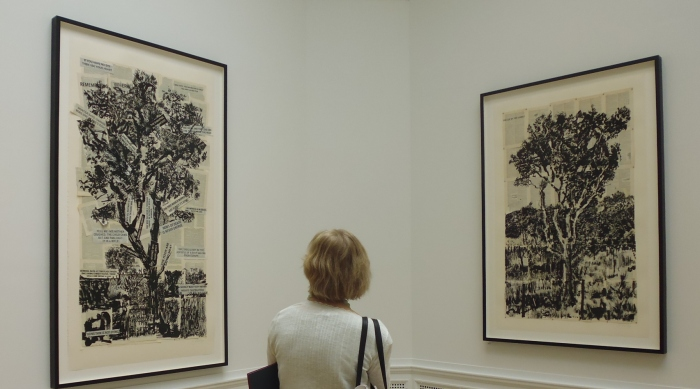 RA Summer exhibition - William Kentridge installation