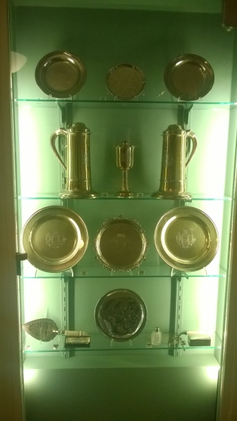 Hidden in plain sight - a hubcap (bottom centre) in the silver collection