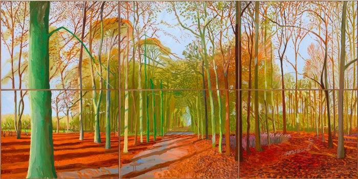 David Hockney Arrival of Spring in Woldgate 2011