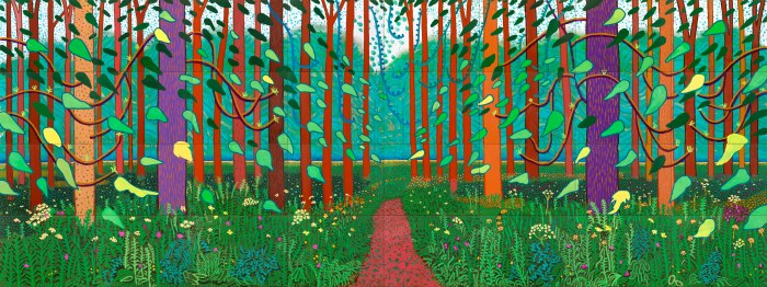 David Hockney Woldgate Woods 2006