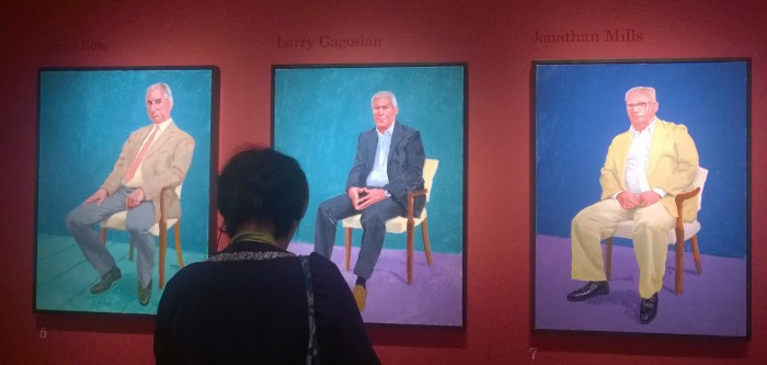 Hockney - early portraits in the series
