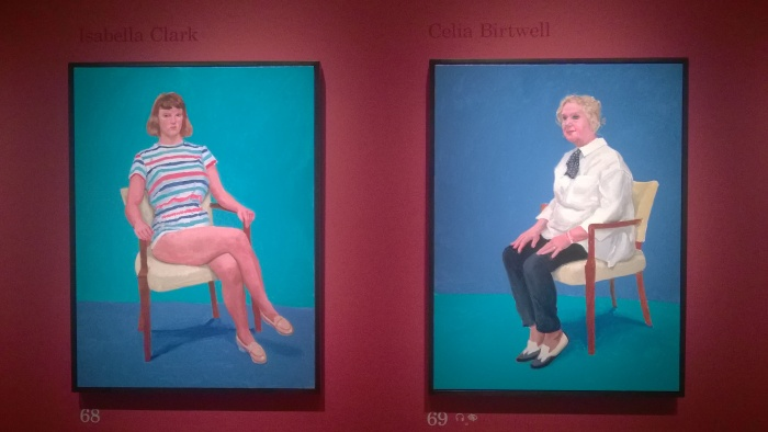 Hockney portraits - grandmother and granddaughter