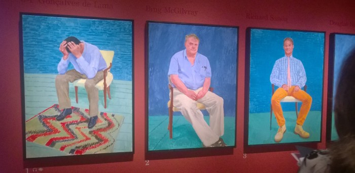 Hockney portraits - the beginning