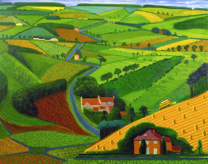 Hockney Road Across the Wold 1997