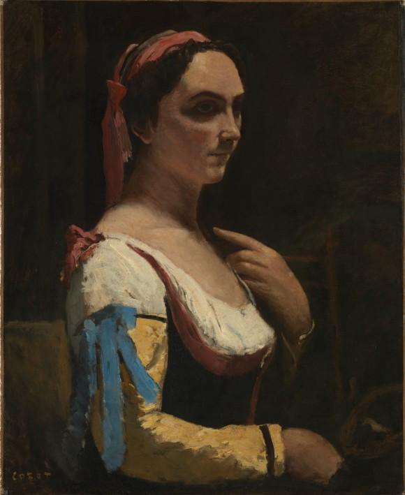 NG Corot Italian Woman 1870